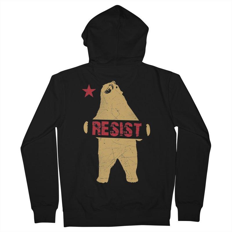 Cali Resist Bear Women's Zip-Up Hoody by japdua's Artist Shop