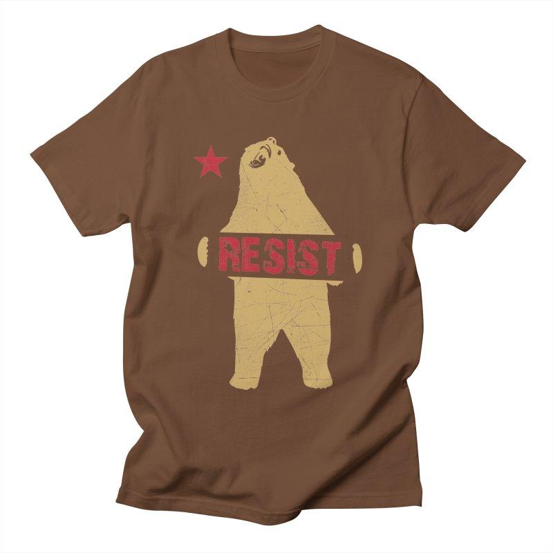 Cali Resist Bear Men's T-Shirt by japdua's Artist Shop