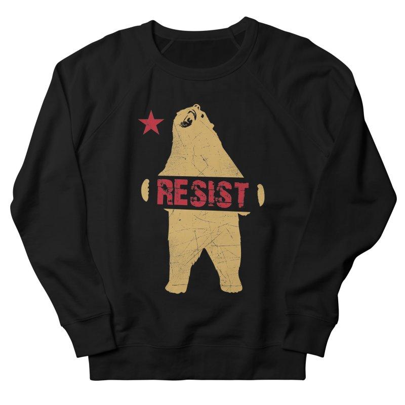 Cali Resist Bear Men's Sweatshirt by japdua's Artist Shop