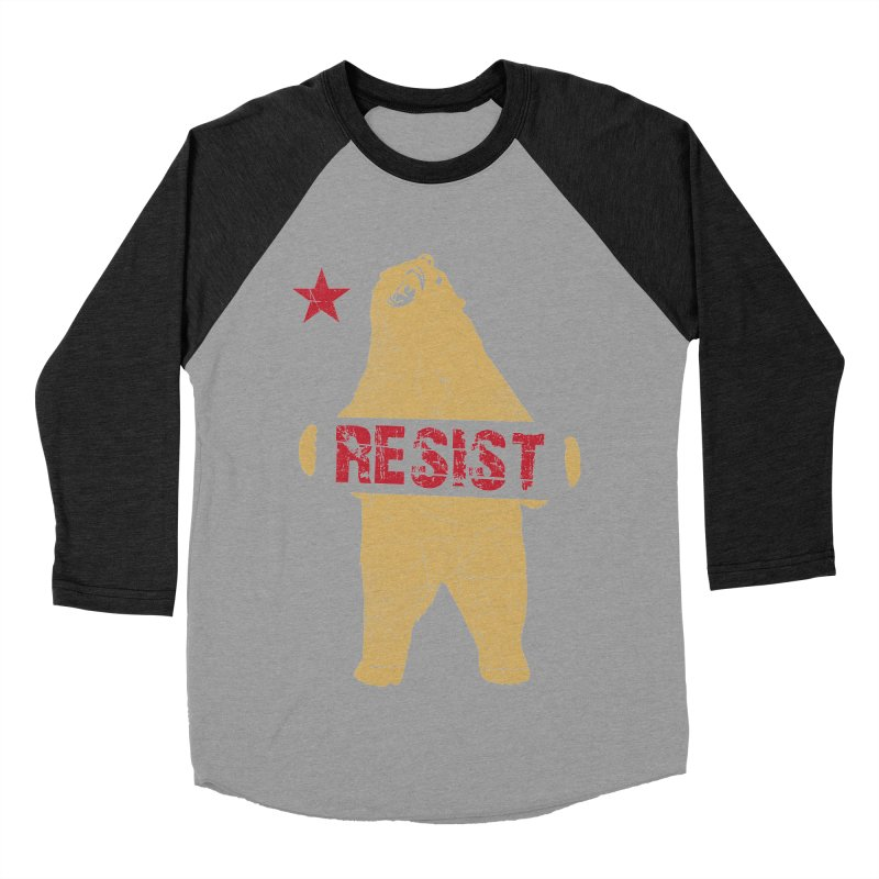 Cali Resist Bear Men's Baseball Triblend T-Shirt by japdua's Artist Shop