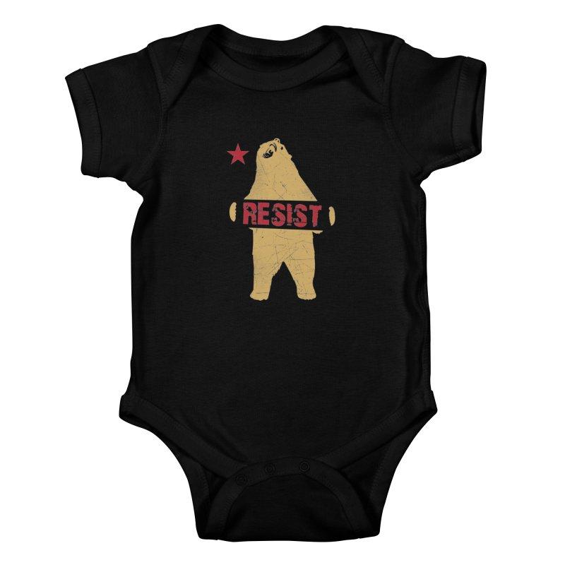 Cali Resist Bear Kids Baby Bodysuit by japdua's Artist Shop
