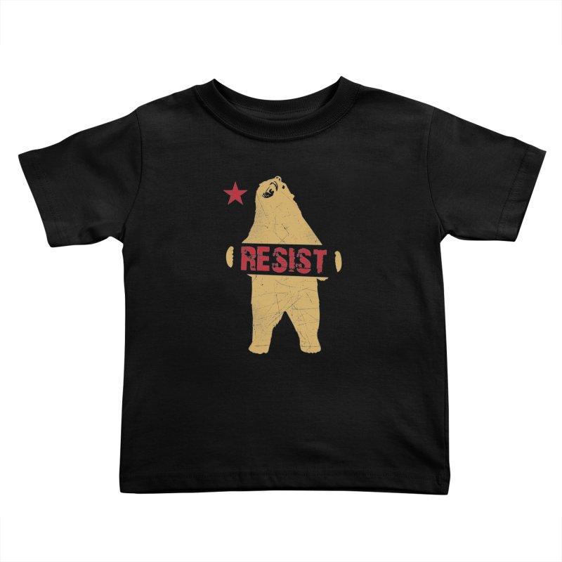Cali Resist Bear Kids Toddler T-Shirt by japdua's Artist Shop