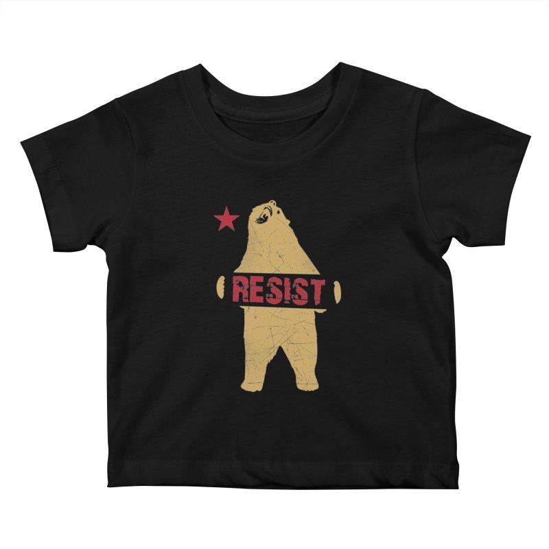 Cali Resist Bear Kids Baby T-Shirt by japdua's Artist Shop
