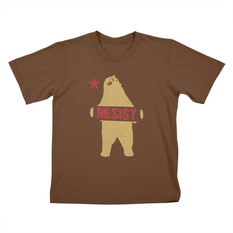 Cali Resist Bear Kids T-Shirt by japdua's Artist Shop