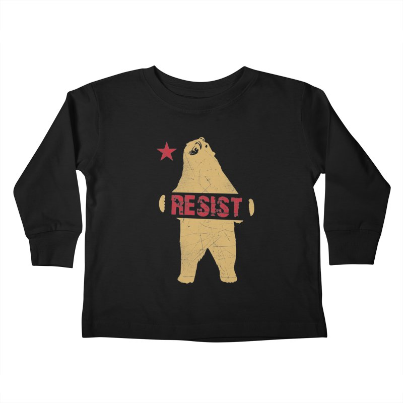 Cali Resist Bear Kids Toddler Longsleeve T-Shirt by japdua's Artist Shop