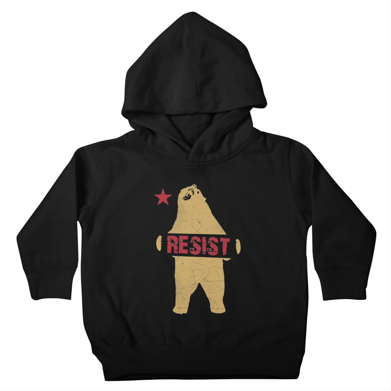 Cali Resist Bear Kids Toddler Pullover Hoody by japdua's Artist Shop