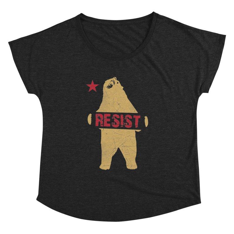 Cali Resist Bear Women's Dolman by japdua's Artist Shop