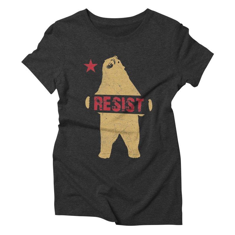 Cali Resist Bear Women's Triblend T-Shirt by japdua's Artist Shop