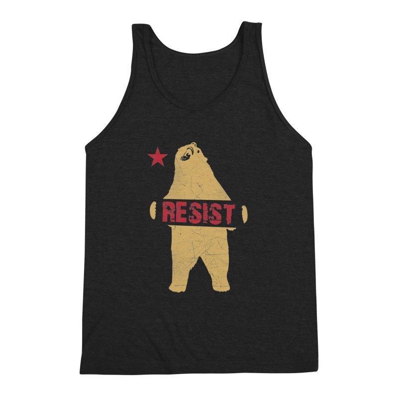 Cali Resist Bear Men's Triblend Tank by japdua's Artist Shop