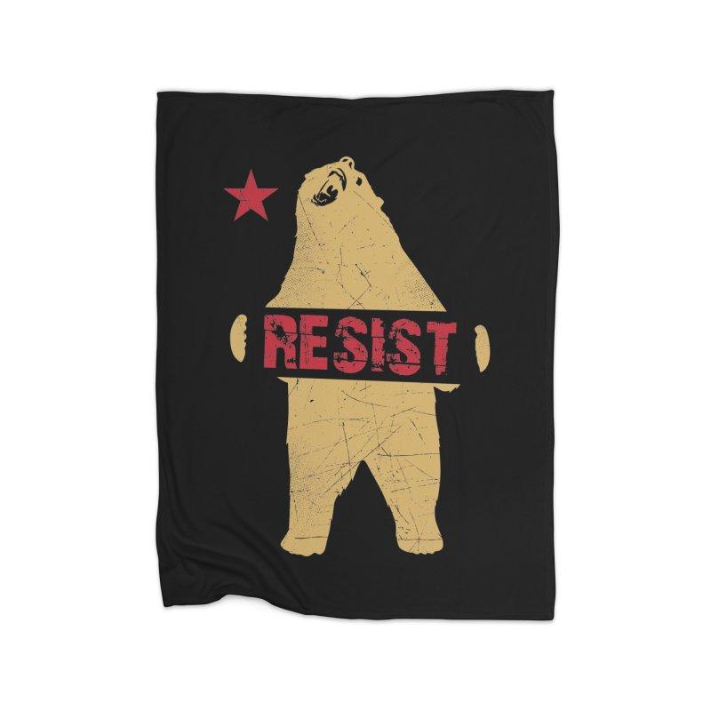 Cali Resist Bear Home Blanket by japdua's Artist Shop