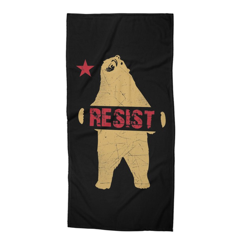 Cali Resist Bear Accessories Beach Towel by japdua's Artist Shop
