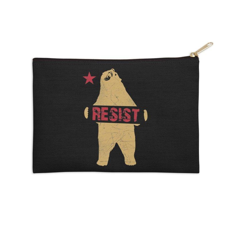 Cali Resist Bear Accessories Zip Pouch by japdua's Artist Shop