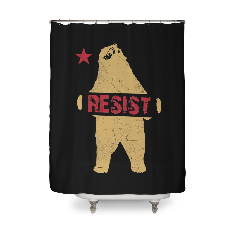 Cali Resist Bear Home Shower Curtain by japdua's Artist Shop