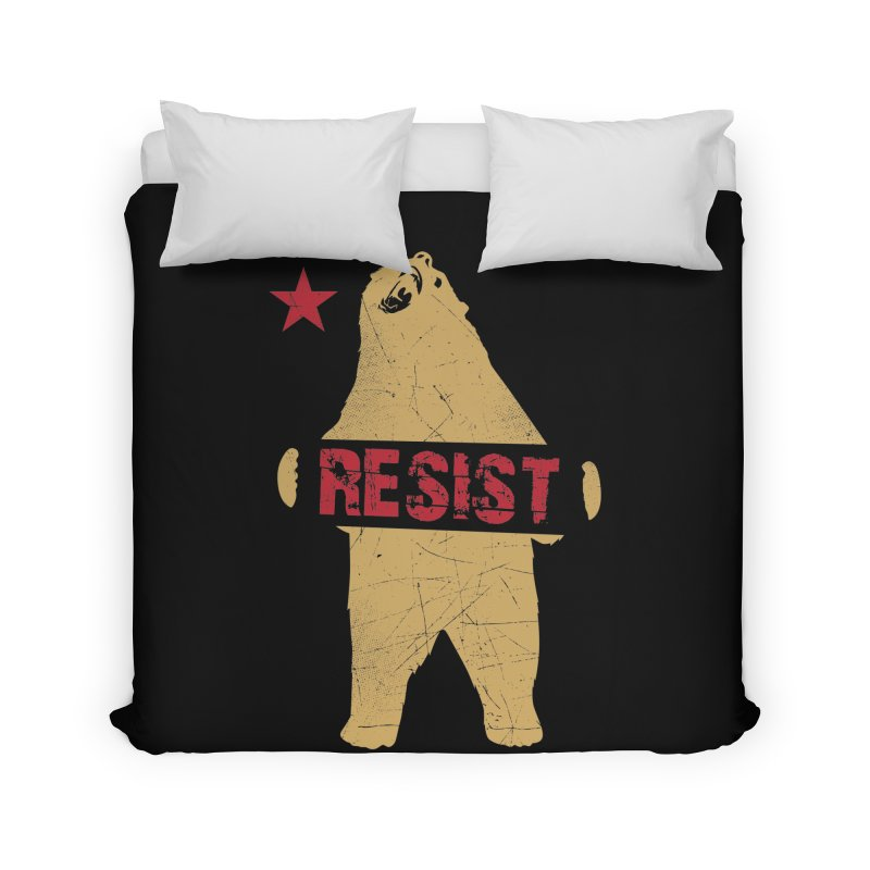 Cali Resist Bear Home Duvet by japdua's Artist Shop