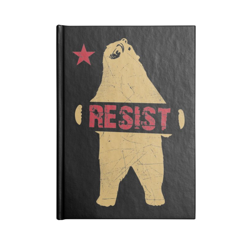 Cali Resist Bear Accessories Blank Journal Notebook by japdua's Artist Shop