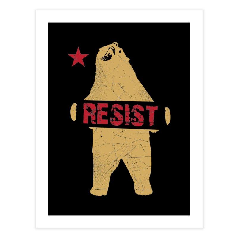 Cali Resist Bear Home Fine Art Print by japdua's Artist Shop