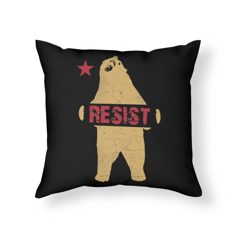 Cali Resist Bear Home Throw Pillow by japdua's Artist Shop