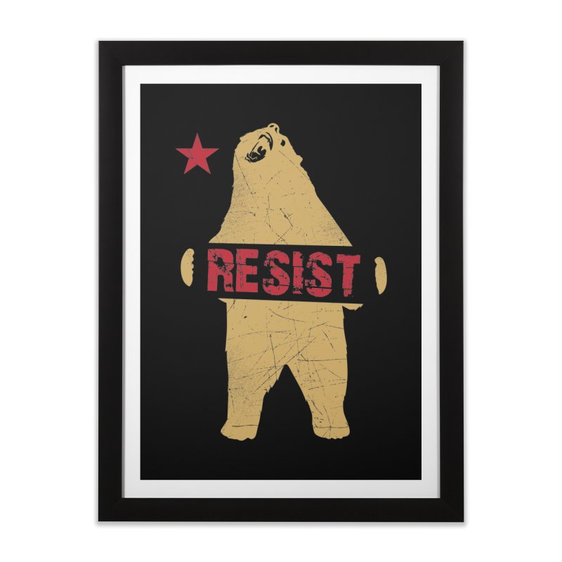 Cali Resist Bear Home Framed Fine Art Print by japdua's Artist Shop