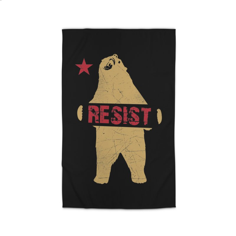 Cali Resist Bear Home Rug by japdua's Artist Shop