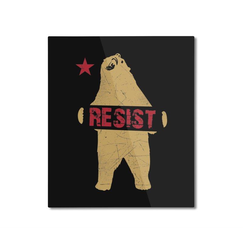 Cali Resist Bear Home Mounted Aluminum Print by japdua's Artist Shop