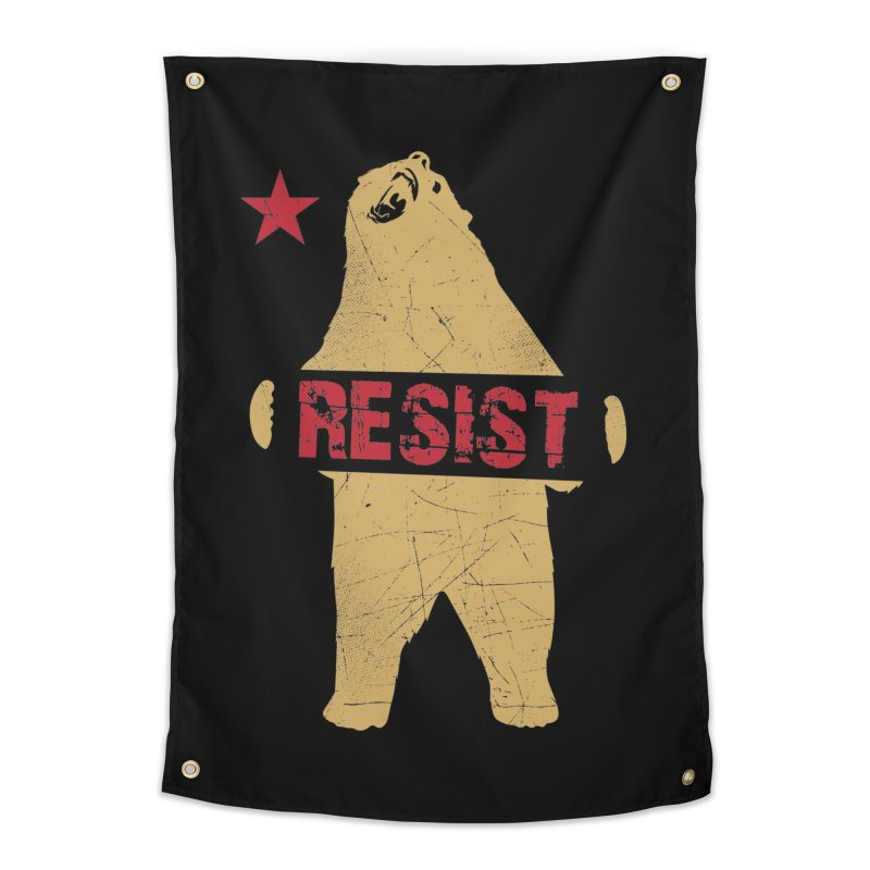 Cali Resist Bear Home Tapestry by japdua's Artist Shop