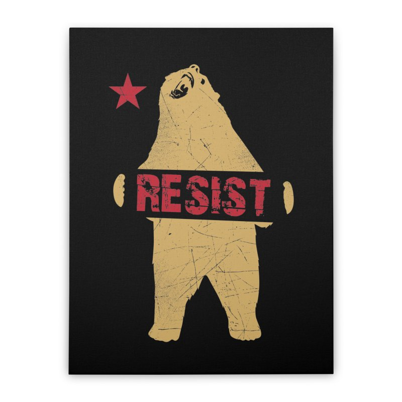 Cali Resist Bear Home Stretched Canvas by japdua's Artist Shop