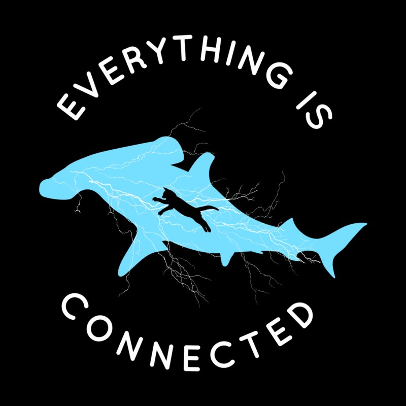 Everything is Connected Cat Shark by japdua's Artist Shop