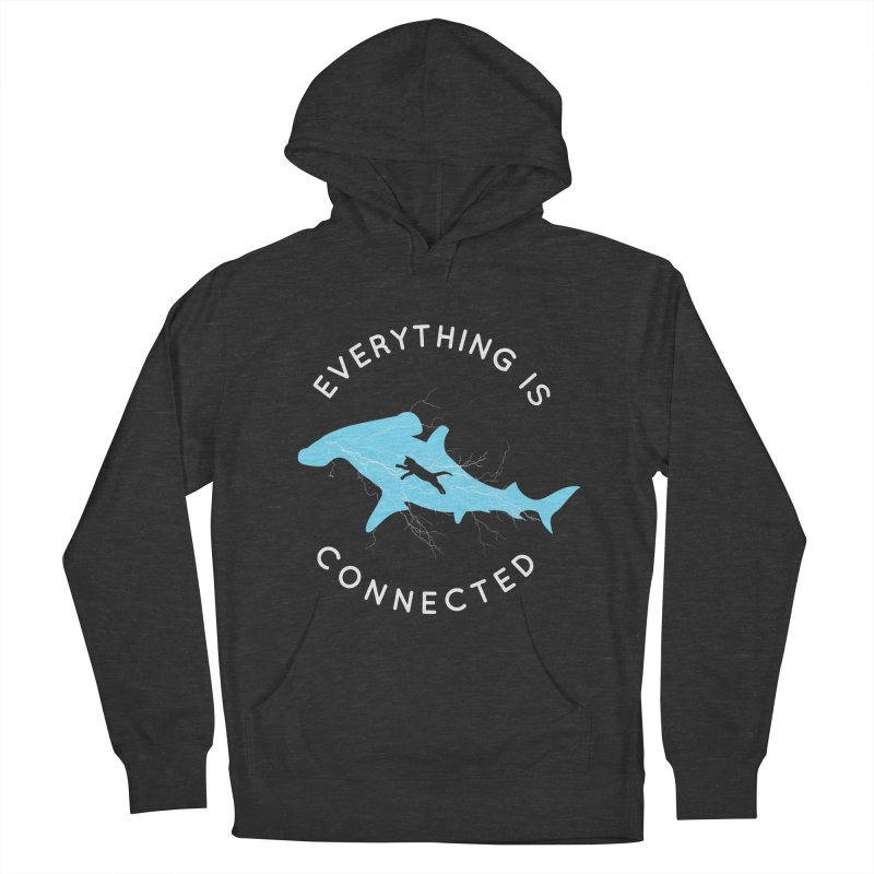 Everything is Connected Cat Shark Men's Pullover Hoody by japdua's Artist Shop