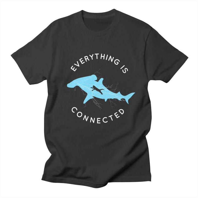 Everything is Connected Cat Shark Men's T-Shirt by japdua's Artist Shop