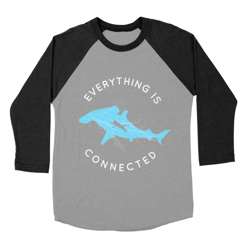 Everything is Connected Cat Shark Men's Baseball Triblend T-Shirt by japdua's Artist Shop