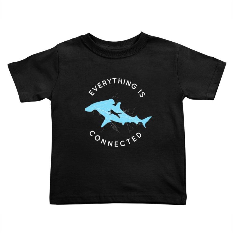 Everything is Connected Cat Shark Kids Toddler T-Shirt by japdua's Artist Shop