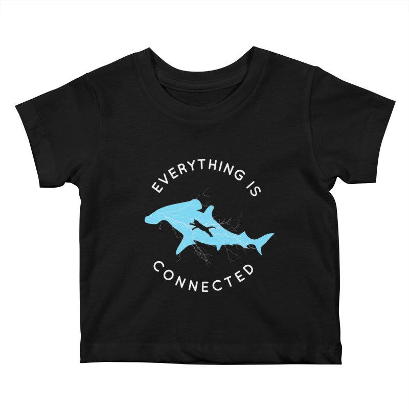 Everything is Connected Cat Shark Kids Baby T-Shirt by japdua's Artist Shop