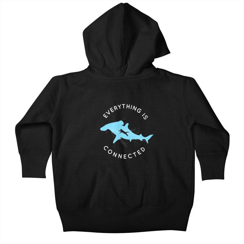 Everything is Connected Cat Shark Kids Baby Zip-Up Hoody by japdua's Artist Shop