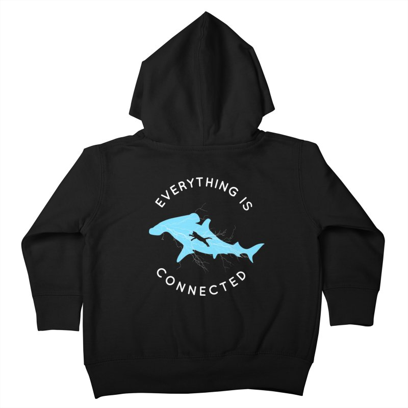 Everything is Connected Cat Shark Kids Toddler Zip-Up Hoody by japdua's Artist Shop