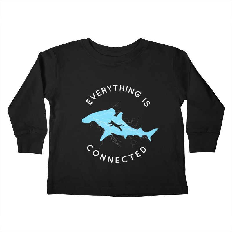 Everything is Connected Cat Shark Kids Toddler Longsleeve T-Shirt by japdua's Artist Shop