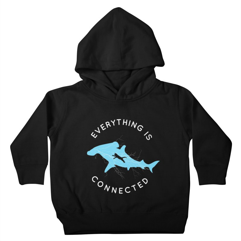 Everything is Connected Cat Shark Kids Toddler Pullover Hoody by japdua's Artist Shop