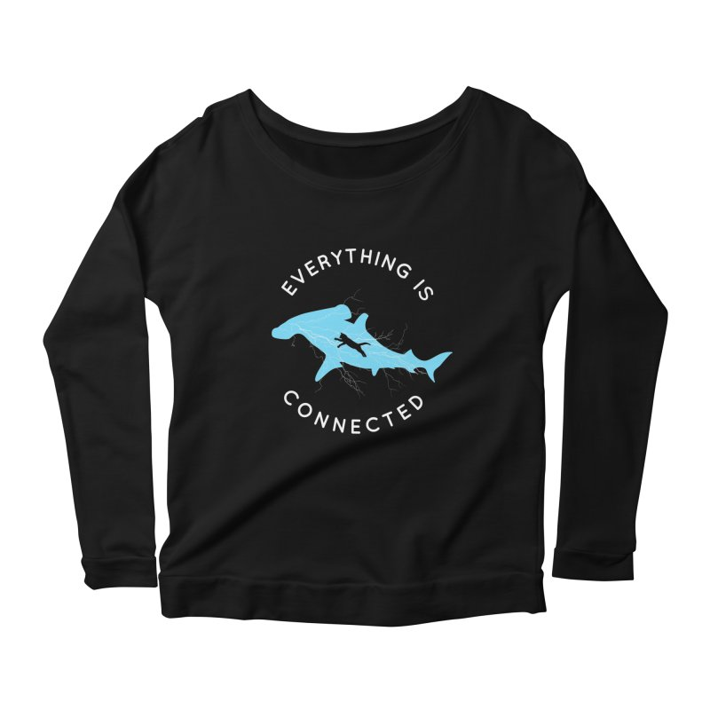 Everything is Connected Cat Shark Women's Longsleeve Scoopneck  by japdua's Artist Shop