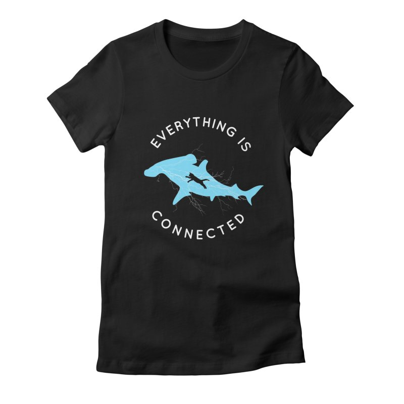 Everything is Connected Cat Shark Women's Fitted T-Shirt by japdua's Artist Shop