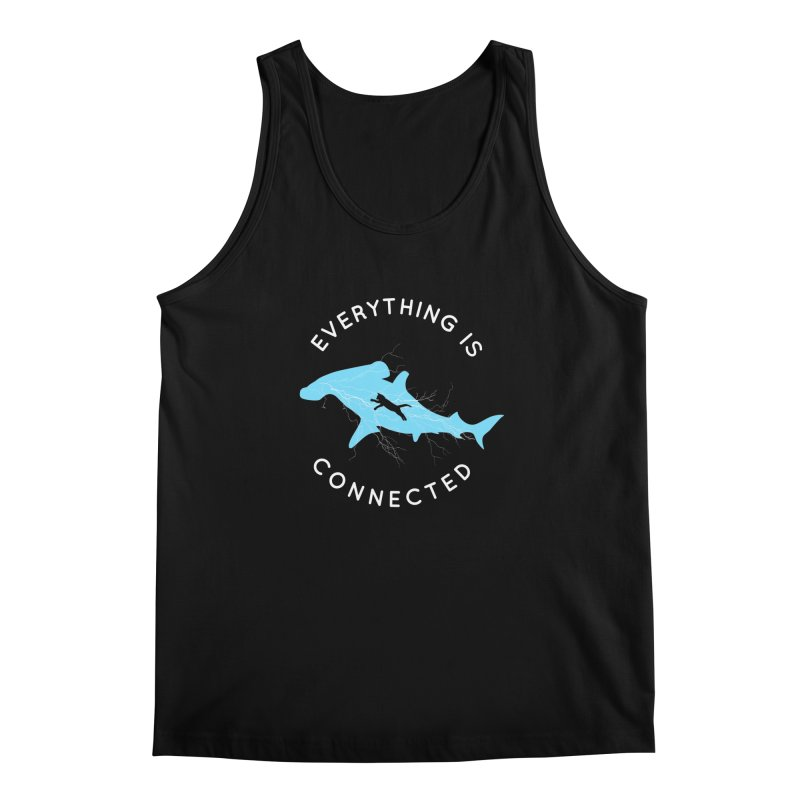 Everything is Connected Cat Shark Men's Tank by japdua's Artist Shop