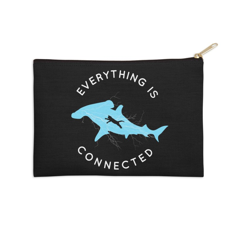 Everything is Connected Cat Shark Accessories Zip Pouch by japdua's Artist Shop