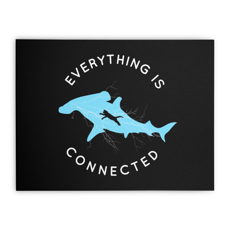 Everything is Connected Cat Shark Home Stretched Canvas by japdua's Artist Shop