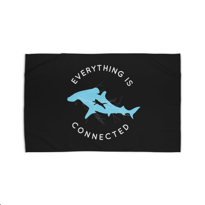 Everything is Connected Cat Shark Home Rug by japdua's Artist Shop