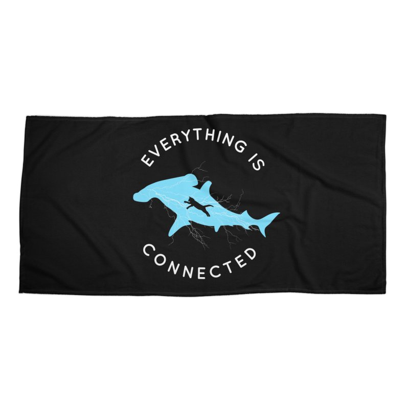 Everything is Connected Cat Shark Accessories Beach Towel by japdua's Artist Shop