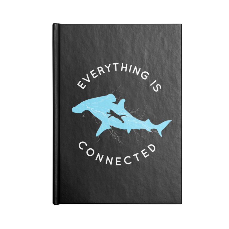 Everything is Connected Cat Shark Accessories Blank Journal Notebook by japdua's Artist Shop