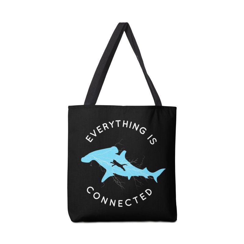 Everything is Connected Cat Shark Accessories Bag by japdua's Artist Shop