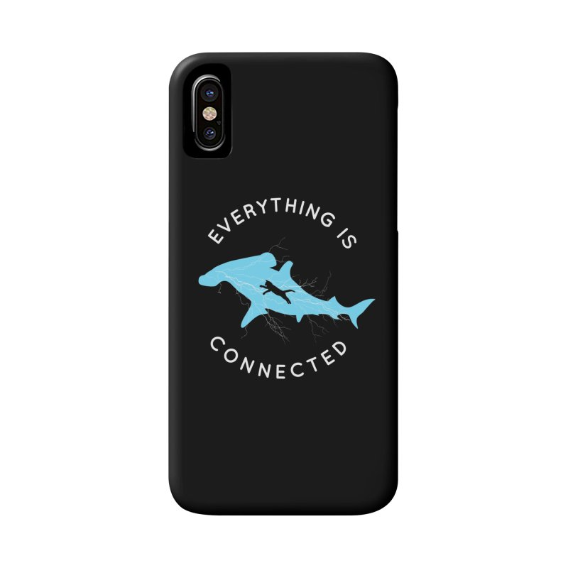 Everything is Connected Cat Shark Accessories Phone Case by japdua's Artist Shop