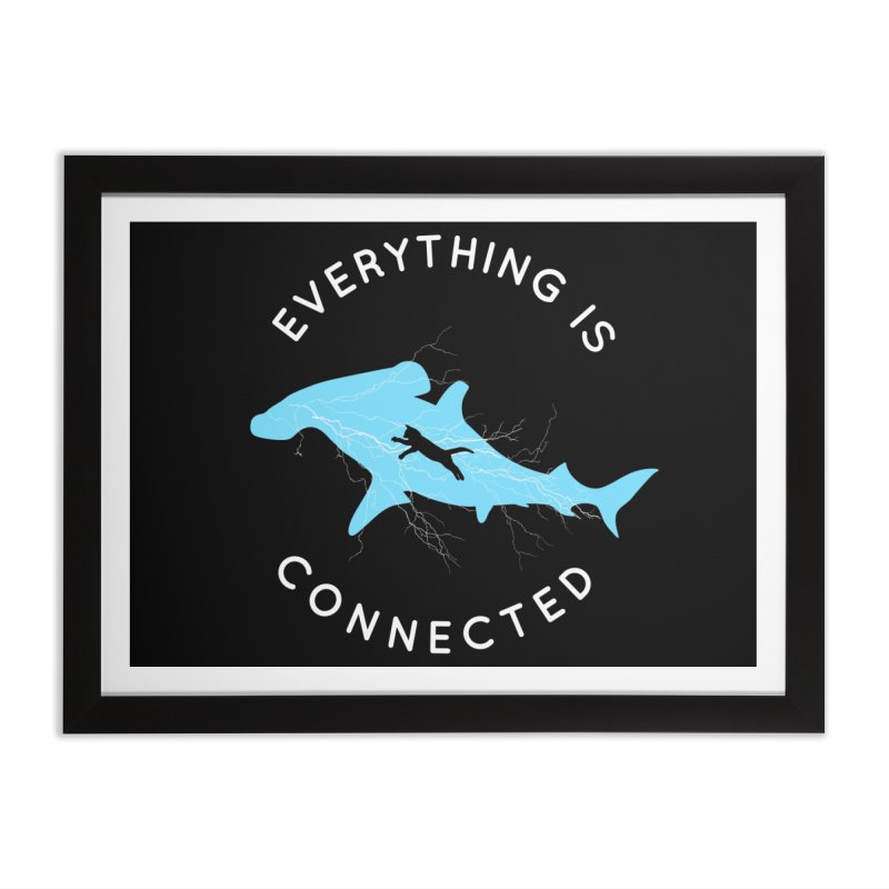 Everything is Connected Cat Shark Home Framed Fine Art Print by japdua's Artist Shop