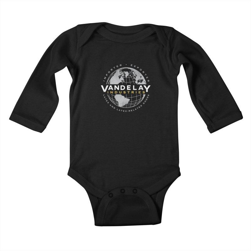 Vandelay Industries Kids Baby Longsleeve Bodysuit by japdua's Artist Shop