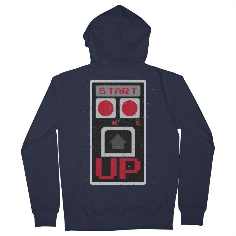 START ME Men's Zip-Up Hoody by Japiboy's Artist Shop