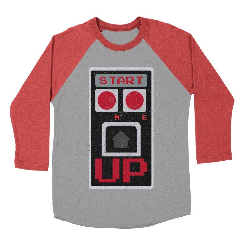START ME Men's Baseball Triblend T-Shirt by Japiboy's Artist Shop